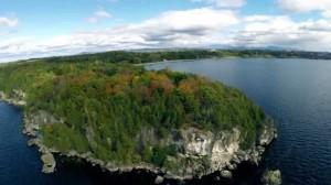 Lake Champlain Drone Selfie