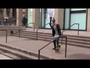 Justin Bieber Skateboarding Video Falling Stairs Nyc