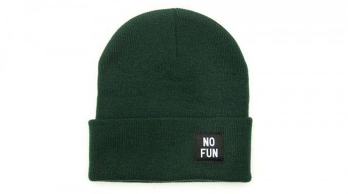 No Fun Labeled Beanie