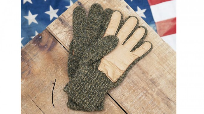 Upstate Stock Rag Wool Gloves with Deerskin