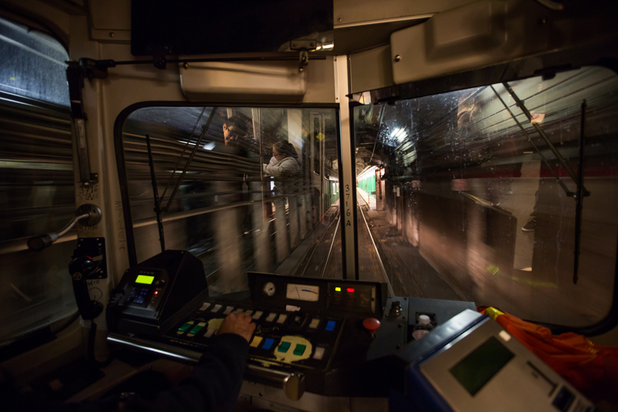 Lione's train pulls into Copley Station.