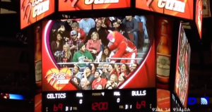 chicago bulls kiss cam