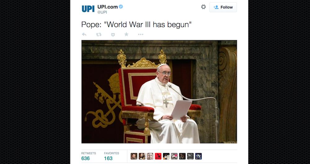 pope world war 3 header