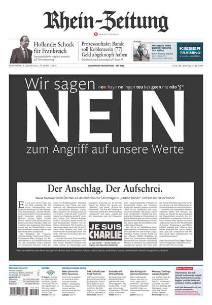 21 Powerful Front Pages That Show Defiance In The Face Of The Charlie Hebdo Tragedy Bdcwire