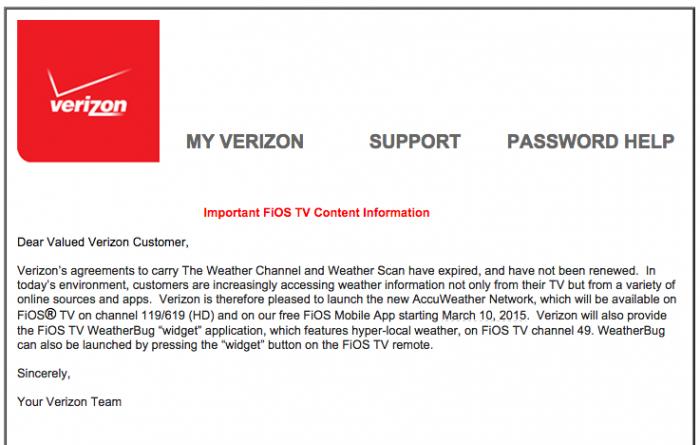 verizon weather channel letter