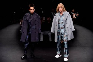 Derek Zoolander and Hansel walk the runway at the Valentino Fashion Show during Paris Fashion Week at Espace Ephemere Tuileries on March 10, 2015 in Paris, France.