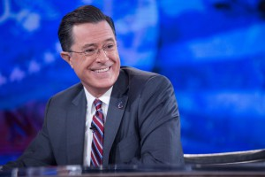 President Obama Tapes An Interview For The Colbert Report with Stephen Colbert