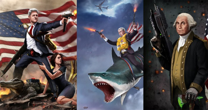 These badass presidential portraits are the most American thing ever