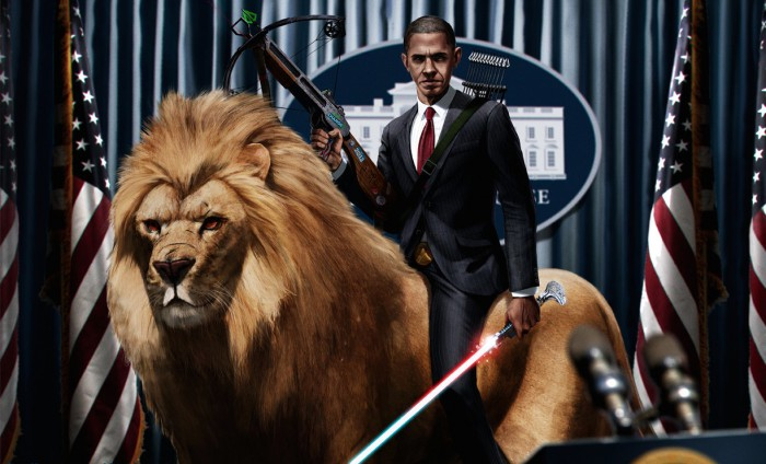 obama lion full crop