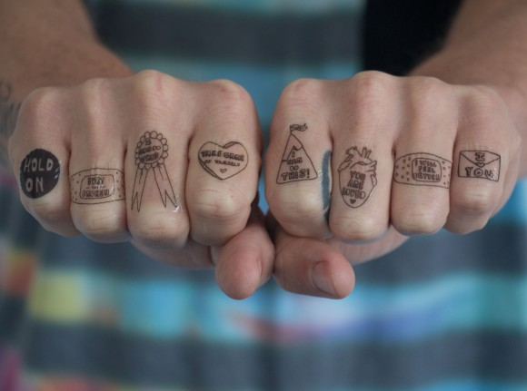 note to self tattoos knuckles