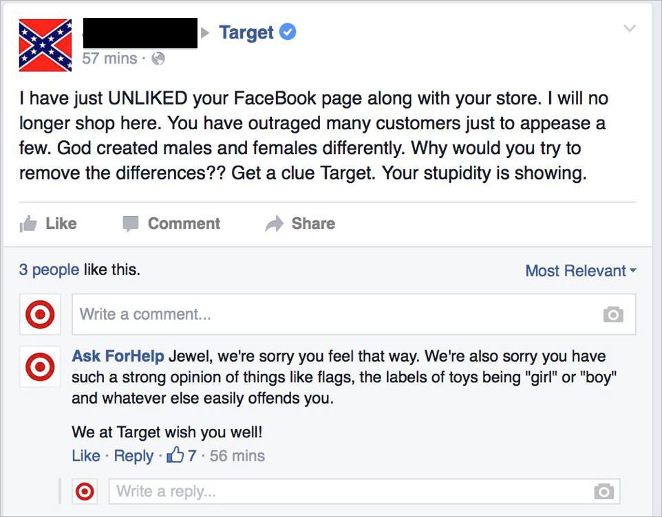 target troll blacked 6
