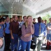 Stunned students at the Brigham Young University b