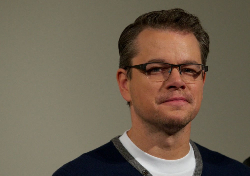 US actor Matt Damon poses for a photo call in conjunction with the release of the film 'The Monuments men' in central London on February 11, 2014.   AFP PHOTO/ANDREW COWIE        (Photo credit should read ANDREW COWIE/AFP/Getty Images)
