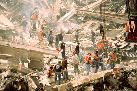 Rescue Operations On Day After World Trade Center Terrorist Attack