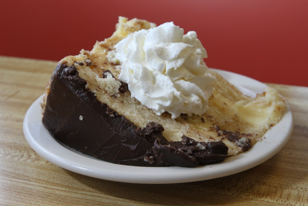 Boston cream pie at  Connie's Stagecoach in Salisbury.   Mark Lorenz for the Boston Globe