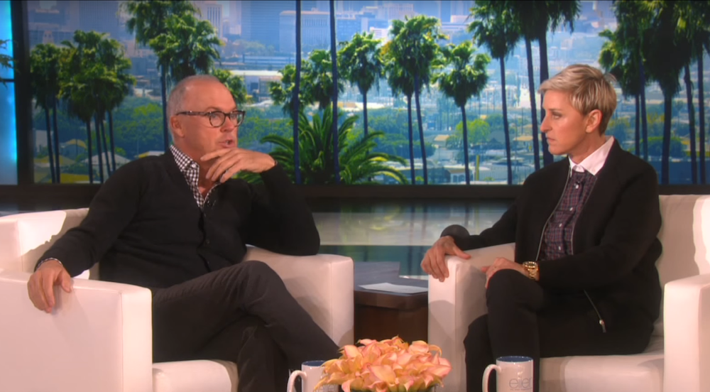 ... Keaton talks about growing up with his devout Catholic mother on Ellen