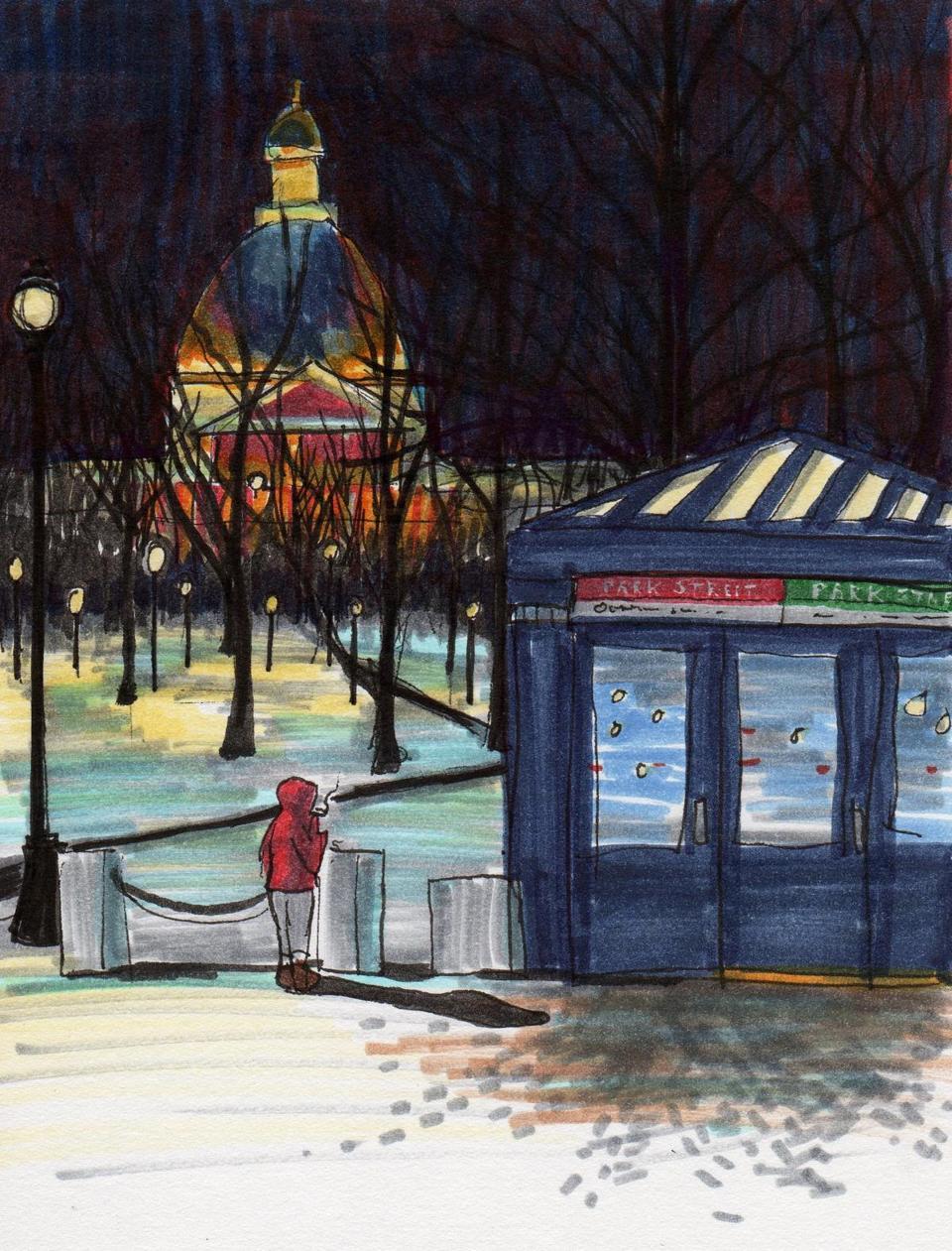 park street sketch
