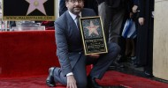 Actor Steve Carell poses on top of his star after he was honored with a star on the Hollywood Walk of Fame in Hollywood, California January 6, 2016.    REUTERS/Kevork Djansezian
