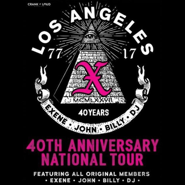 Upcoming Events X 40th Anniversary Tour Brighton Music Hall