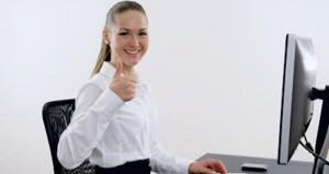 thumbs up computer