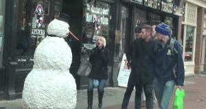scary snowman