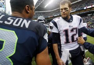 Russell Wilson, Tom Brady
