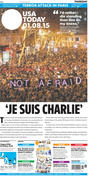 usa today je suis charlie