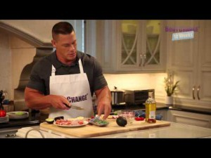 John Cena prepares a Ham and Avocado Platter