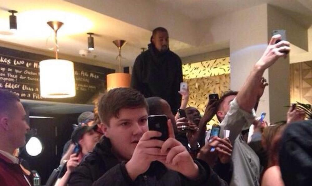 kanye selfie photo