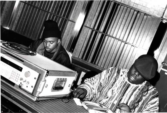Nas and Biggie, via Adama Delphine Fawundu.