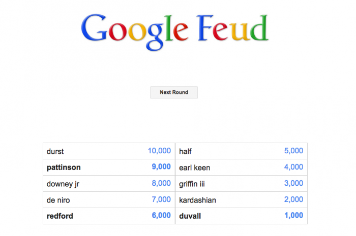 Google Feud Robert
