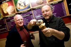 American ice cream makers Ben Cohen (L)