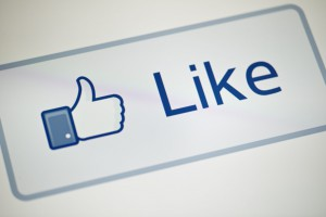 "A view of Facebook's ""Like"" button May 1"