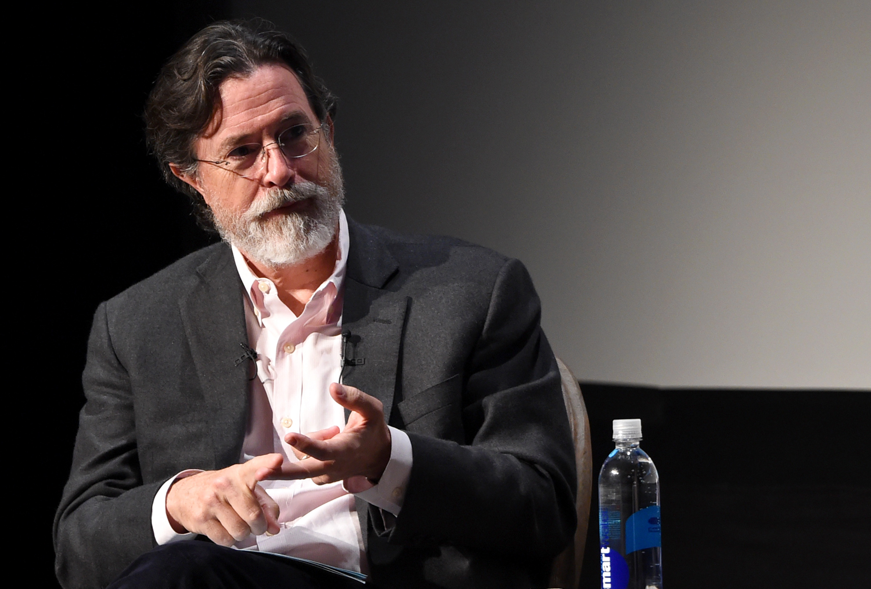 attends Tribeca Talks: Director Series: George Lucas With Stephen Colbert during the 2015 Tribeca Film Festival at BMCC Tribeca PAC on April 17, 2015 in New York City.
